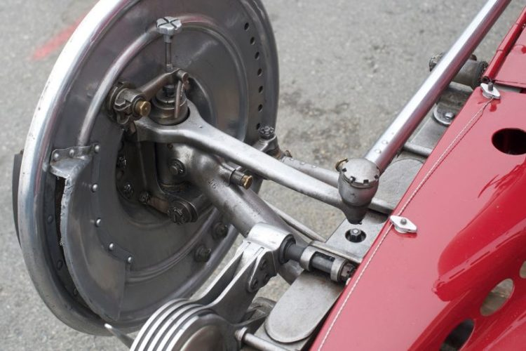 Right front suspension on Giddings' 1930 Alfa Romeo Tipo B P3.