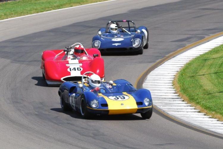 1963 Elva MkVII- Bernard Bradpiece. #146- 1963 Huffaker Genie Mk8- John Harden.
