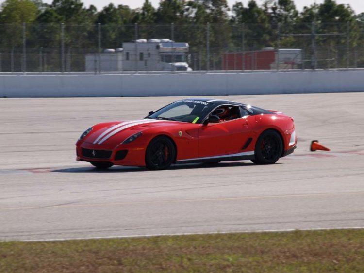 Ferrari 599 running on the PBIR circuit