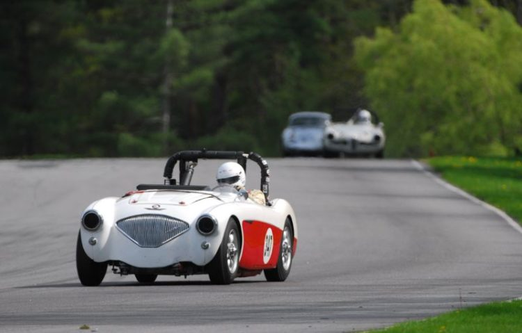 The very strong Austin Healy 100/4 with Richard Maloumian.