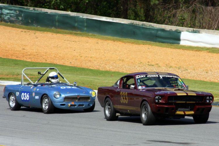CH De Haan. 65 Mustang and John Prater. 66 MGB