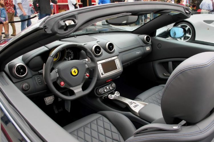 The all-aluminum space frame and body of the Ferrari California compliments this retractable hardtop's maximum speed of 193 mph.