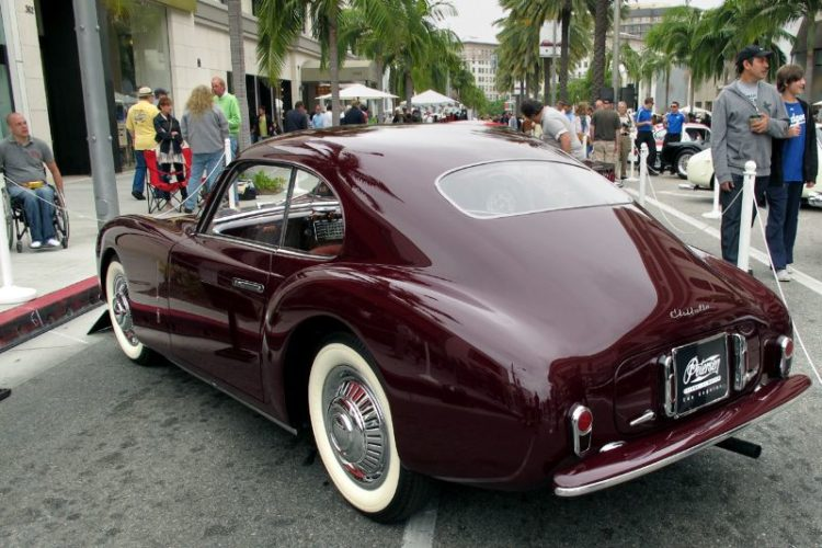 The Petersen Museum's Pinin Farina-bodied fastback 1947 Cisitalia 202 Coupe has a modified 1100-cc FIAT engine.