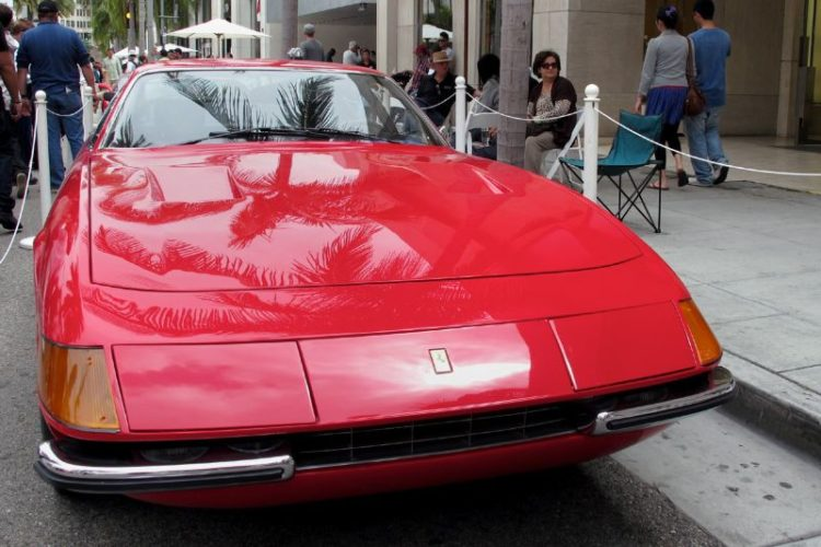 This dazzling 1970 Ferrari 365 GTB/4 Daytona is owned by Shin Takei, editor-in-chief of FINISH LINE, the publication of the Checkered Flag 200 support group for the Petersen Automotive Museum, as well as being a production member of the Rodeo Drive Concours d'Elegance.