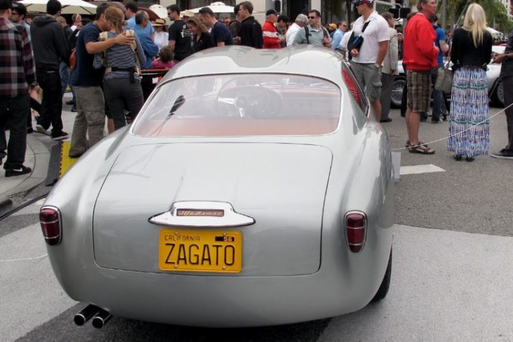 We've seen the front of his car, so here's the going-away signature of David Sydorick's awesome 1956 Alfa Romeo 1900 Zagato