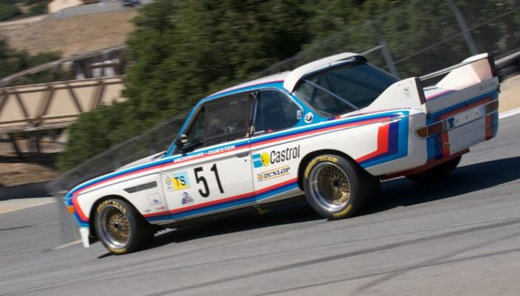 Pre-Reunion, Sunday. Bill Watson in a BMW 3.0 CSL.