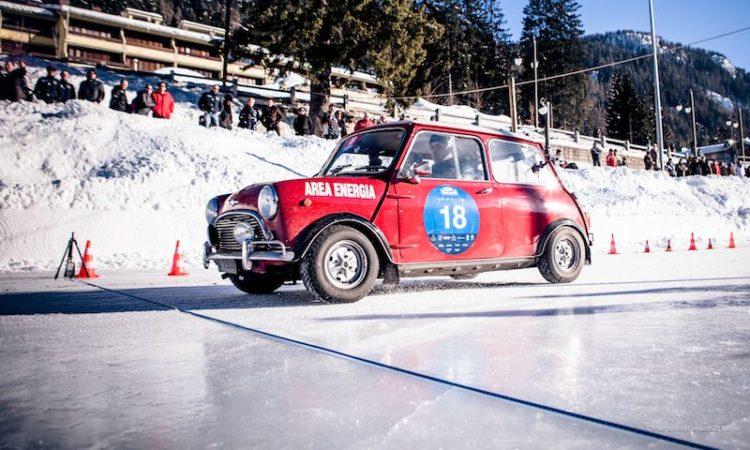 1965 Morris Mini Cooper S, winners of the Winter Marathon Rally 2013
