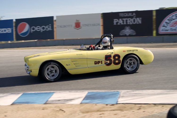 There were few cars more exciting to watch in eleven the the 1958 Corvette driven by Noel Park.