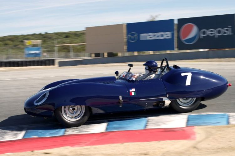 This is Nick Colonna's 1959 Lister Costin Chevrolet in turn eleven.