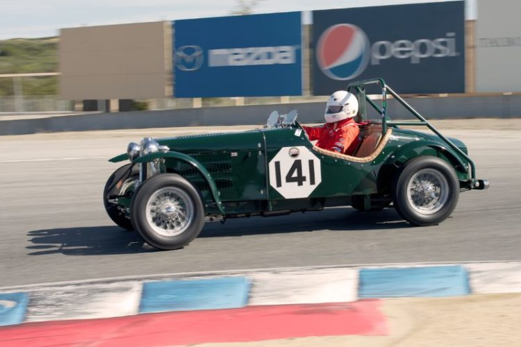 Lawrie Alexander in his 1952 MG TD Special.