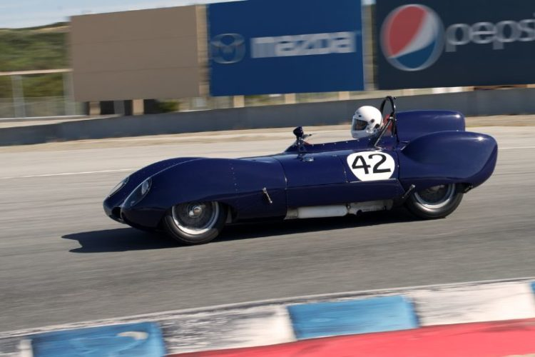 One of the events prettiest cars Arthur Cook's 1958 Lotus Eleven in turn eleven.