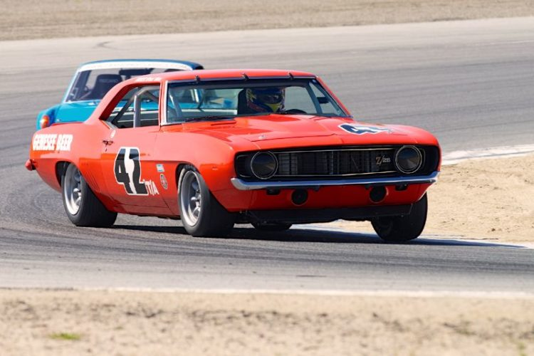 Jim Reed's 1969 Chevrolet Camaro in two.