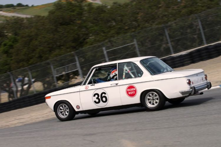 No Photoshop slight of hand in this image, the Corkscrew is that steep. Mark Rancon's 1970 BMW 2002.