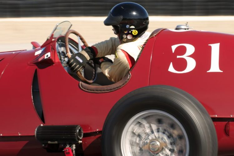 A study in concentration Two. Peter Giddings in his 1935 Alfa Romeo Tipo C 8C-35 further into eleven.