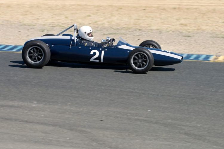 Jim Smith's 1962 Cooper T-59 F-Jr. between four and five.