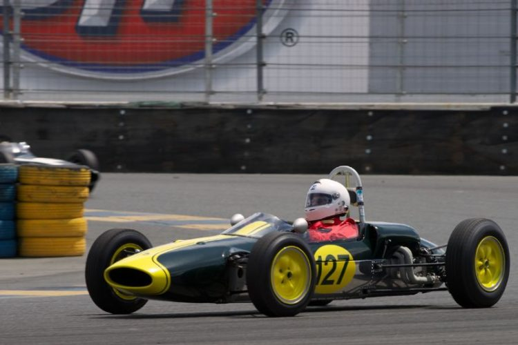 Jack Fitzpatrick in his Lotus 27 F-Jr. in eleven.