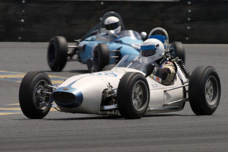 Karen Barry in turn eleven. 1960 BMC Huffaker F-Jr.