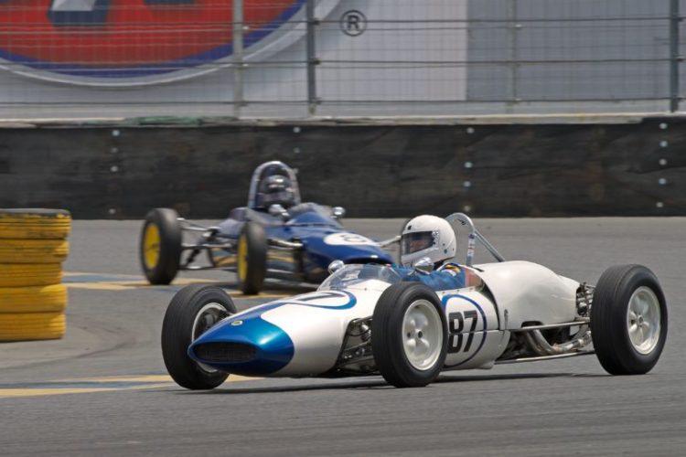 Barbara Blackie in her 1962 Lotus F-Jr in eleven.