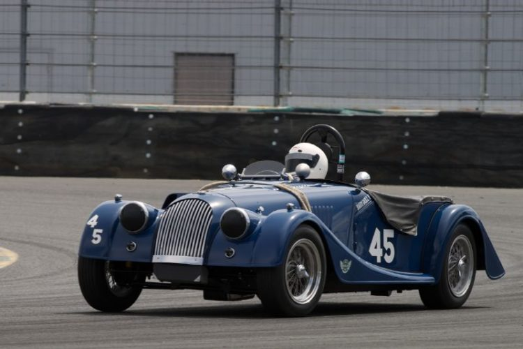 1963 Morgan +4 SS 'Baby Doll' driven by Gregory Solow in eleven.