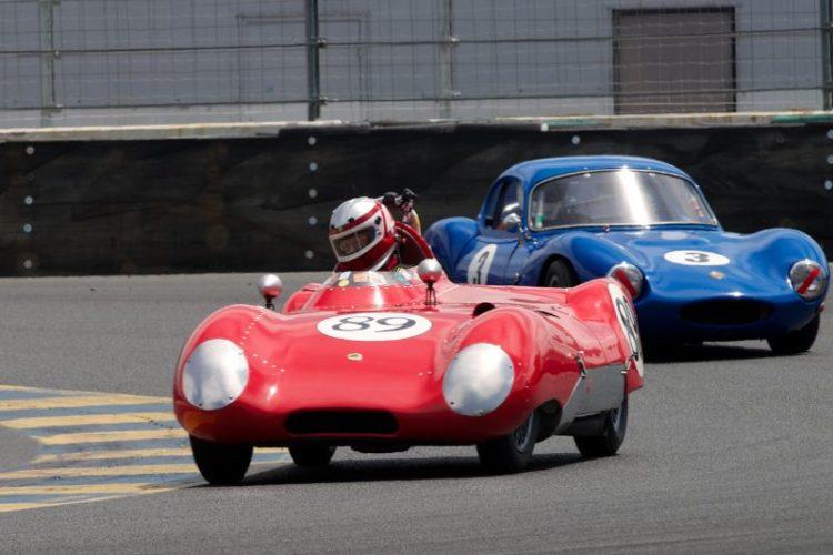 John Hurabiell's Lotus Eleven in turn eleven.
