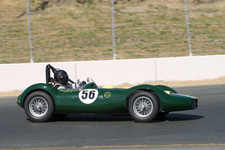 1956 Lister Maserati driven by John Fudge.