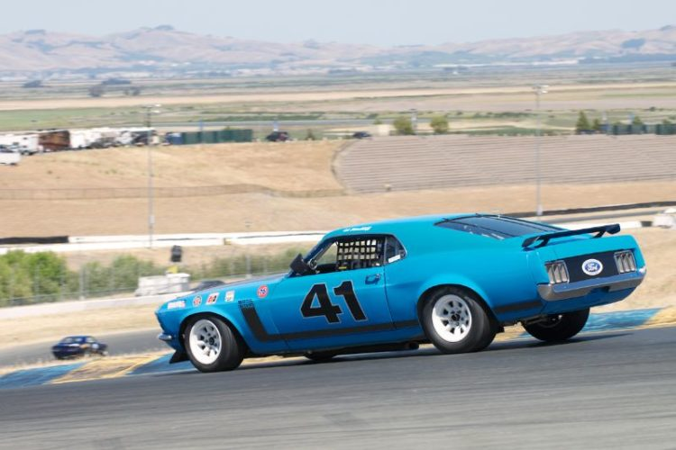 Down four. Robert Canepa in his 1970 Boss 302 Mustang.