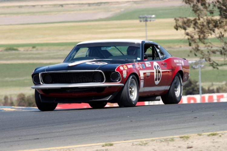 Vic Edelbrock's 1969 Boss 302 Mustang in two.