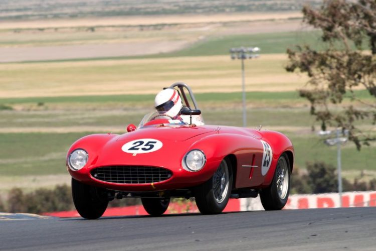 Erickson Shirley's 1954 Ferrari 500 Mondial. Special thanks to Erickson for bringing the only Ferrari in the field. Not only did he bring the car but he then proceeded to make it fly. Thanks.