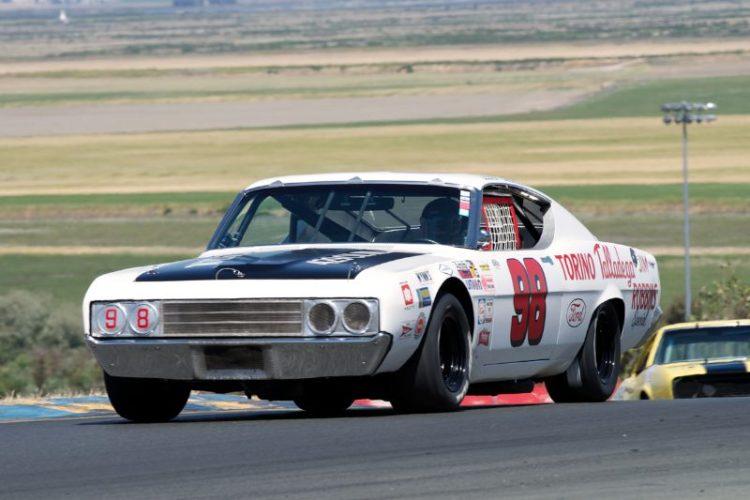 1969 Ford Talladega driven by Ron Myska in turn two.