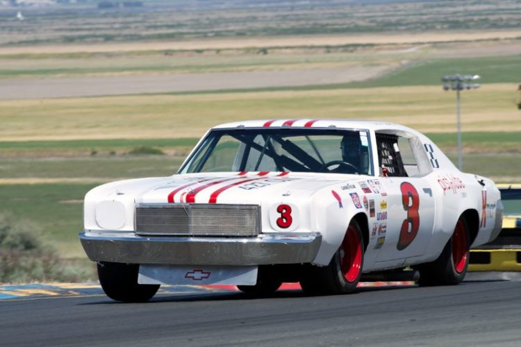 Richard Orme's 1971 Chevrolet Monte Carlo in turn two.