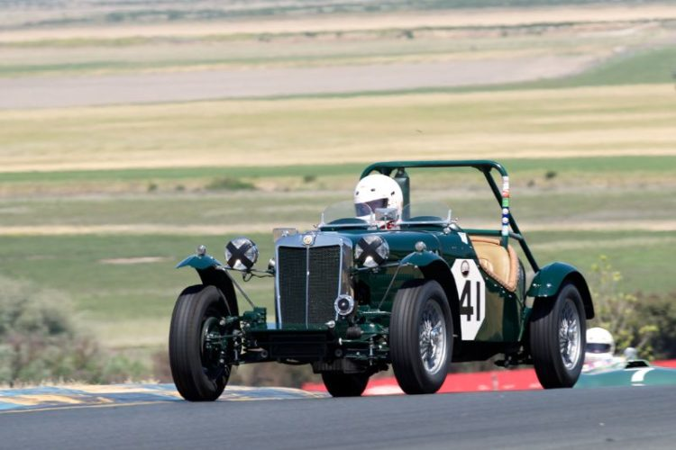 1952 MG-TD Special driven by Lawrie Alexander.