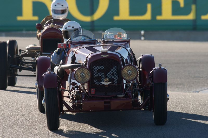 Len Auerbach's Aston Martin 2 Litre Short Chassis Ulster in The Corkscrew.