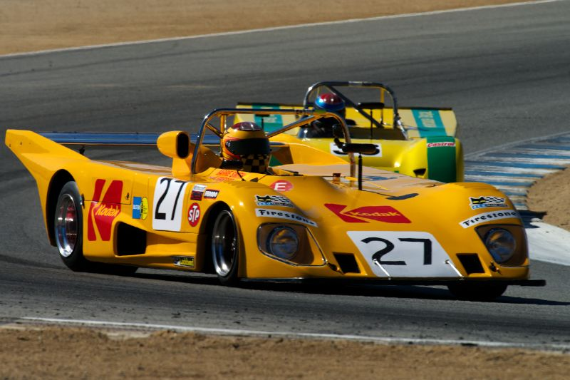Keith Frieser's Lola T298 in turn five Thursday afternoon.