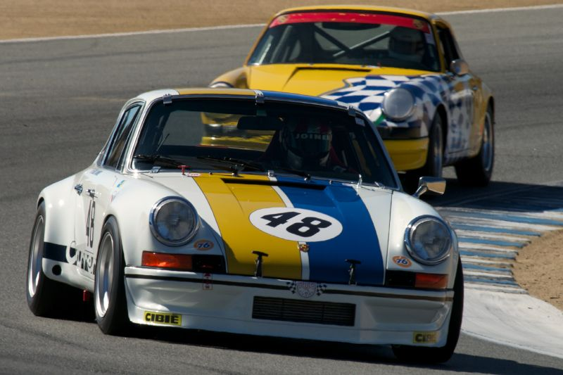 Phillip Bagley's Porsche 911 in turn five.