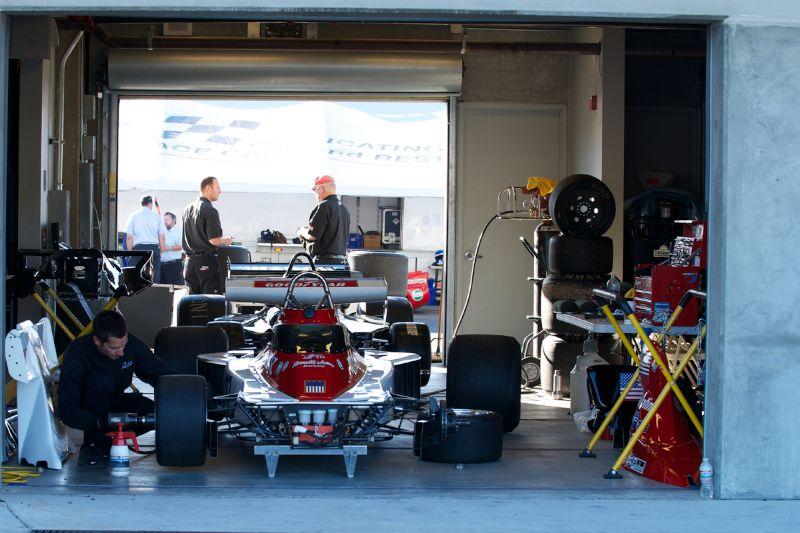 Garage area.