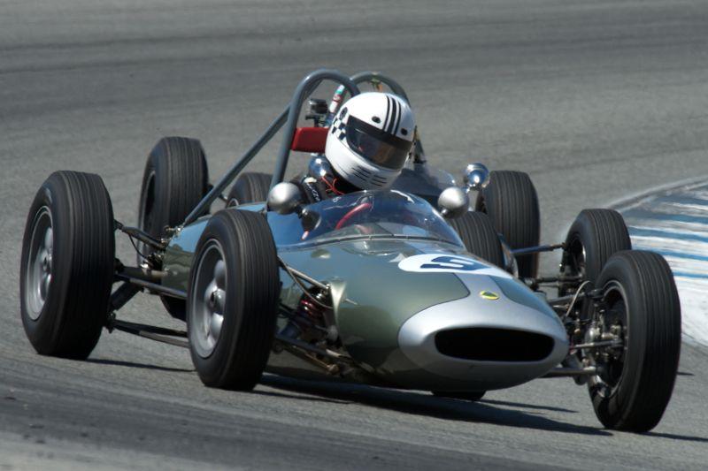 Carl Moore in his Lotus 22.