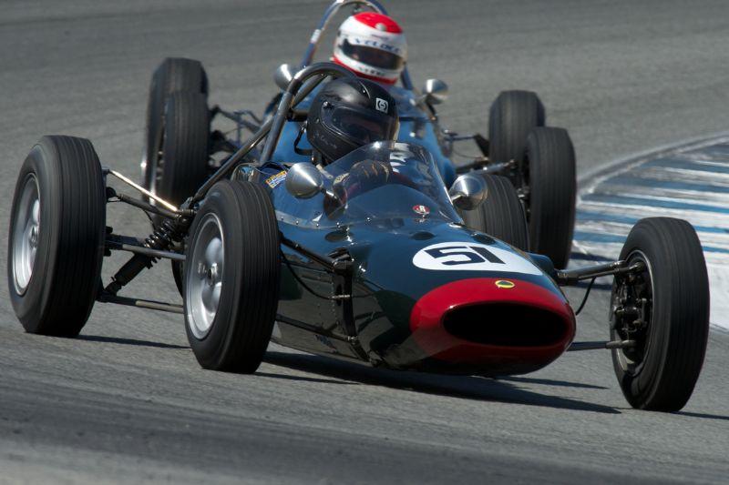 Nicholas Colyvas in his Lotus 27.