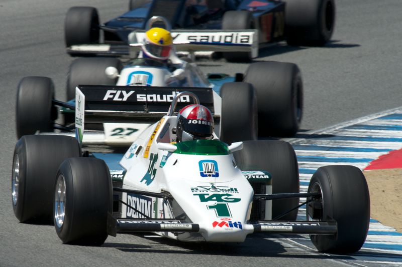 Eric Joiner's Williams FW08C in turn two.