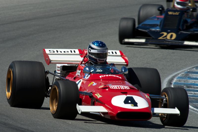 Todd Smather's Ferrari 312 B in turn five.