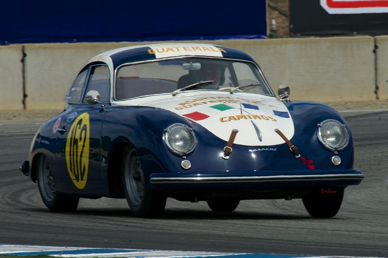 Richard Clark's Pre A 356 Porsche in turn eleven Sunday.