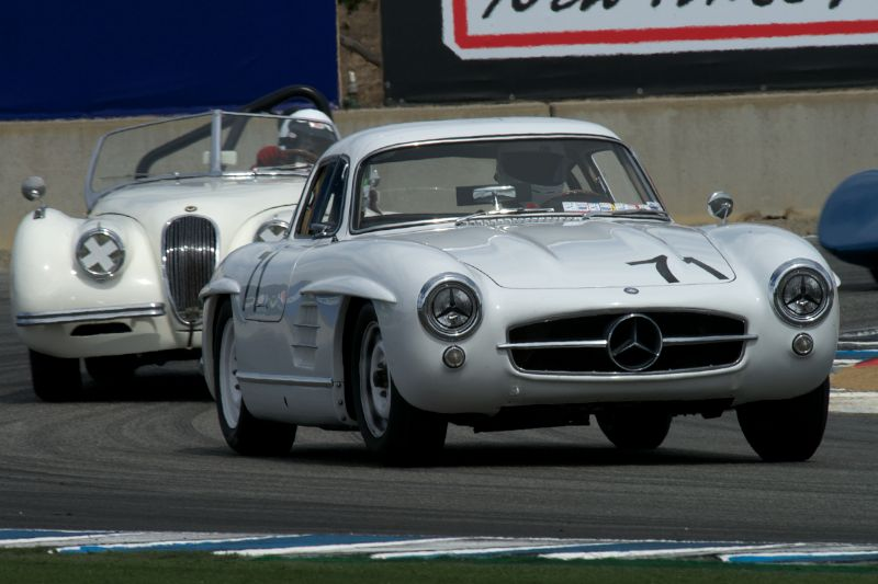 Steve Marx's Mercedes Benz 300SL Gullwing exits turn eleven Sunday.