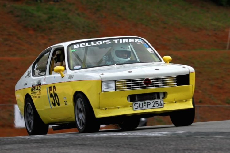 Ernesto Bello in his well prepared and well driven 74 Opel Kadett.