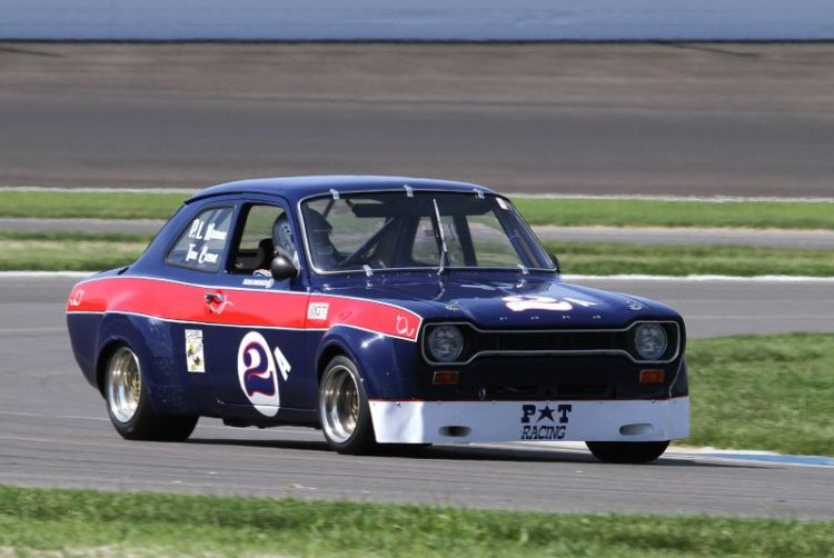 Ross Bremer in his ex Paul Newman 72 Euro Ford Escort MKl.