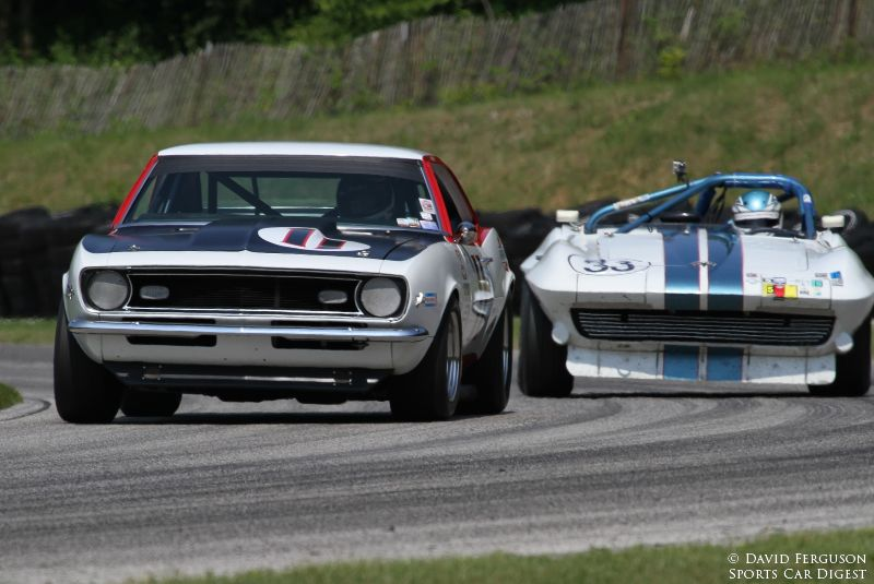 Norman Daniels, 68 Camaro Z/28 and Mike Donohue, 63 Corvette