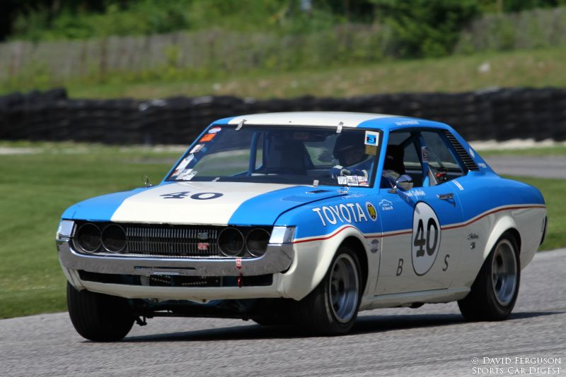 Lisa Weinberger in the ex Janet Guthrie 72 Toyota Celica.