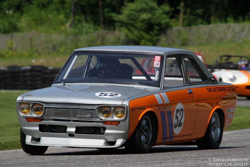 Richard Fisher in a very quick 67 Datsun Bluebird.