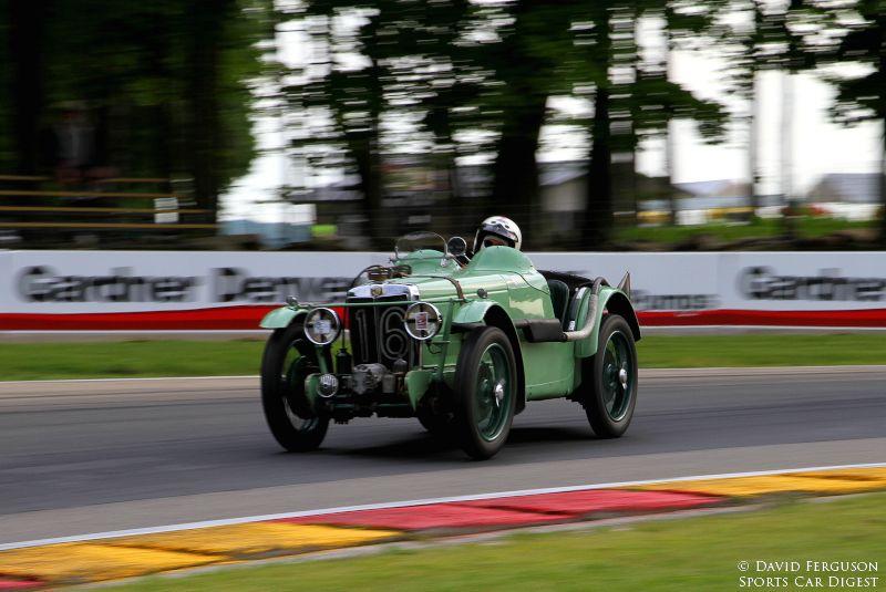 Curtis Liposcak drifting through turn 6 in his 33 MG J2