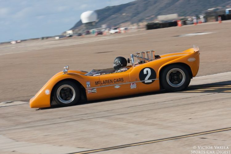 Robert Ryan entering  turn 7 in his 1968 McLaren M6B. © 2014 Victor Varela
