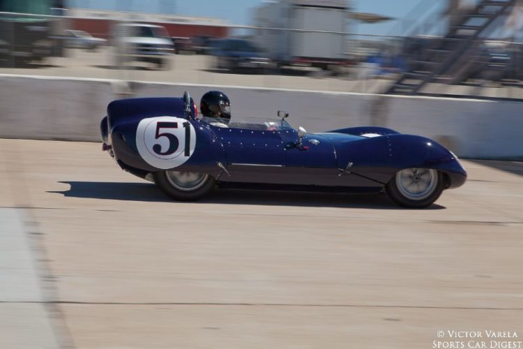 Frank Arciero in the 1958 Lotus Eleven S2. © 2014 Victor Varela