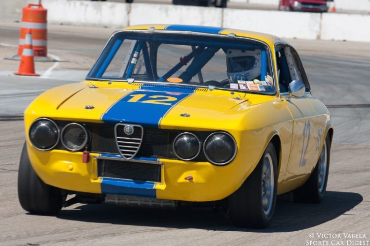 Don Forrester in his 1969 Alfa Romeo GTV. © 2014 Victor Varela